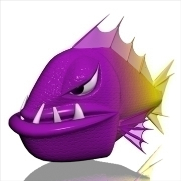 angry piranha 3d model 3ds max obj 111551