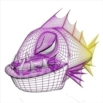 qəzəbli piranha 3d model 3ds max obj 111554