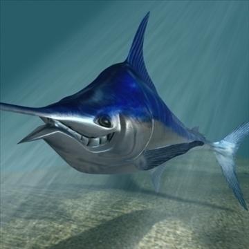 blue marlin toon fish 3d model 3ds max lwo obj 106595