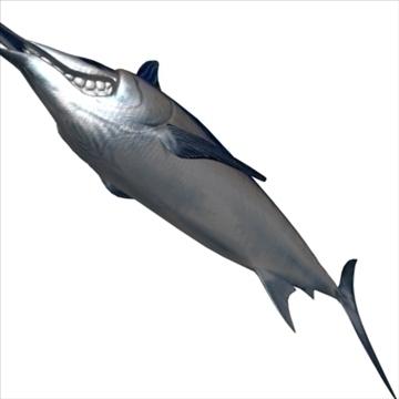peix blue marlin toon 3d model 3ds max lwo obj 106598