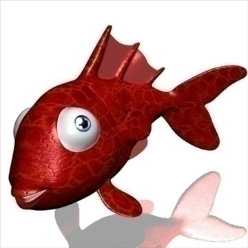 goldfish cartoon 3d modelis 3ds max fbx lwo obj 111902