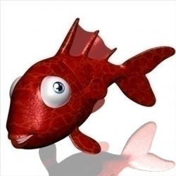 Goldfish cartoon 3D ( 64.3KB jpg by supercigale )