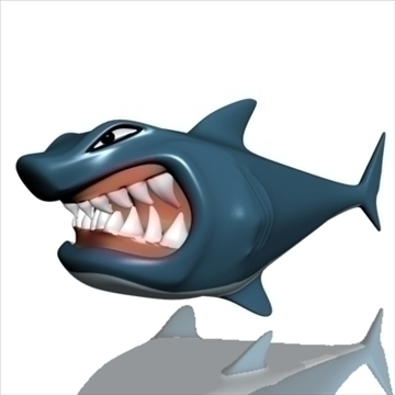 hungry shark 3d model 3ds max obj 103682