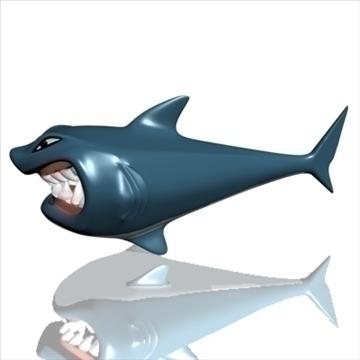hungry shark 3d model 3ds max obj 103683