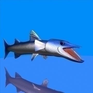 killer barracuda 3d model 3ds max dxf obj 105392