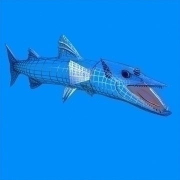 killer barracuda 3d model 3ds max dxf obj 105395