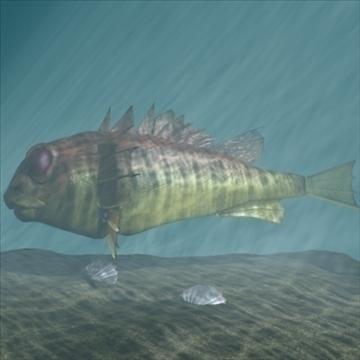 rascasse lion fish 3d model 3ds max obj 105847