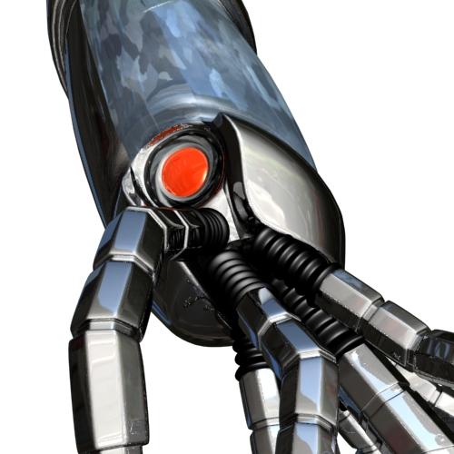 model 3d robot squid rigged 3ds max fbx lwo obj 113504