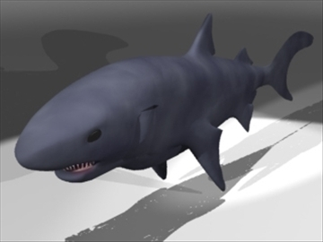 shark1 3d model 3ds dxf lwo 80698