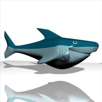 smiling shark 3d model 3ds max dxf obj 104695