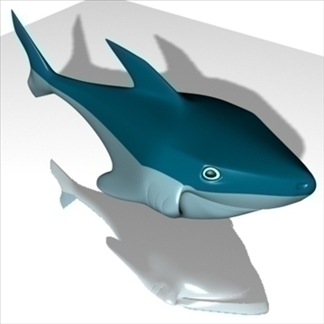 smiling shark 3d model 3ds max dxf obj 104696