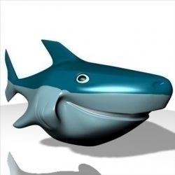 Smiling Shark 3D ( 48.24KB jpg by supercigale )