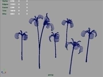 blue iris set 001 3d model 3ds max obj 102818
