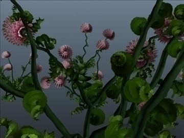 clover flower set 001 3d model 3ds max obj 102667