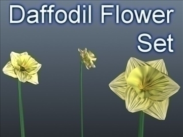 daffodil set 001 3d model 3ds max obj 102811