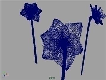 daffodil set 001 3d model 3ds max obj 102813