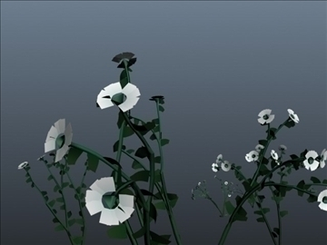 daisy flower set 001 3d model 3ds max obj 102699