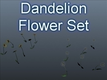 dandelion set 001 3d model 3ds max obj 102706
