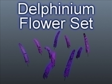 дельфініум набір 001 3d модель 3ds max obj 102789