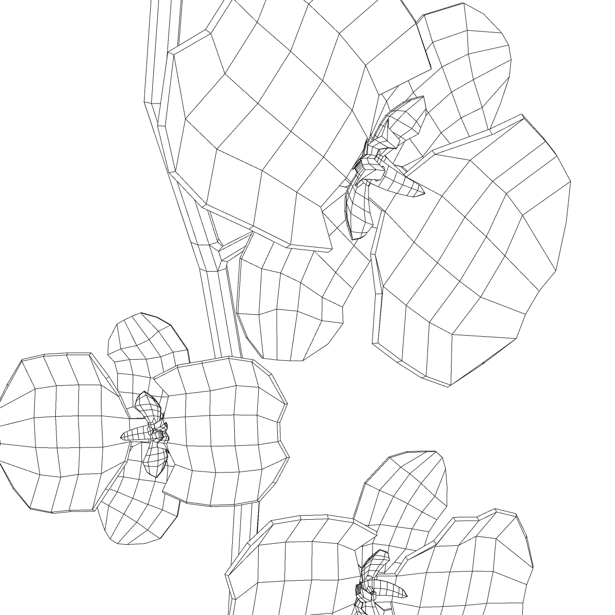 cvijetna baza 3d model 3ds max fbx ma mb obj 158103