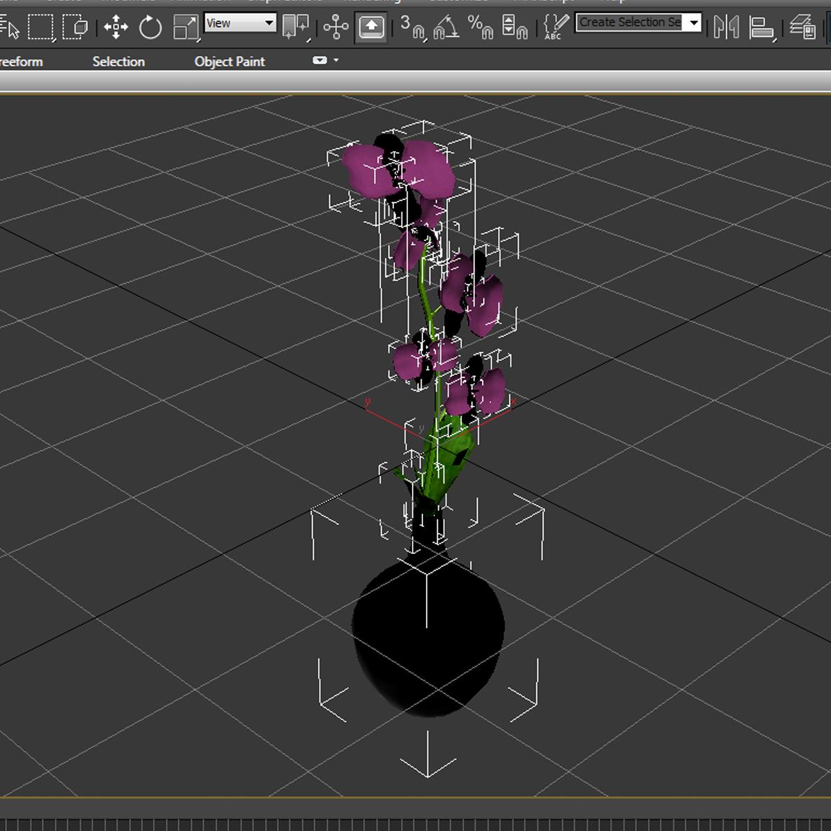 cvijetna baza 3d model 3ds max fbx ma mb obj 158105
