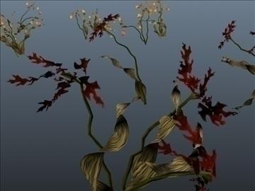 lily flower set 001 3d model 3ds max obj 102806