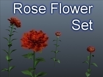 rose flower set 001 3d model 3ds max obj 102845