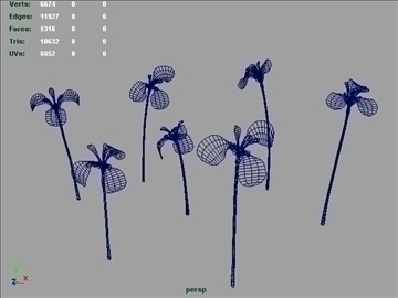 russian iris set 001 3d model 3ds max obj 102838