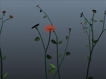 tall flower set 001 3d model 3ds max obj 102796
