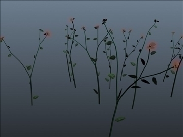 tall flower set 001 3d model 3ds max obj 102797
