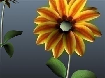 tiger flower set 001 3d model 3ds max obj 102920