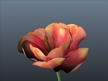 tulip flower set 001 3d model 3ds max obj 102926
