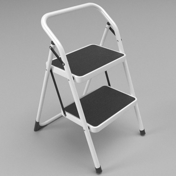 folding steps – step stool 3d model 3ds fbx skp obj 121109