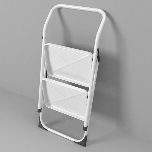 folding steps – step stool 3d model 3ds fbx skp obj 121111