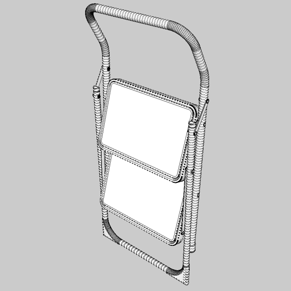 folding steps – step stool 3d model 3ds fbx skp obj 121113
