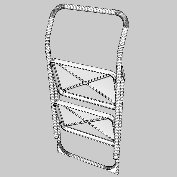 folding steps – step stool 3d model 3ds fbx skp obj 121114