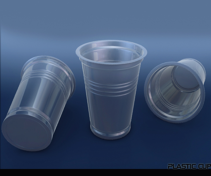 műanyag pohár két 3d modell 3ds max fbx obj 117061