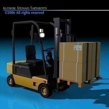 forklift 2 3d model 3ds dxf c4d obj 84864