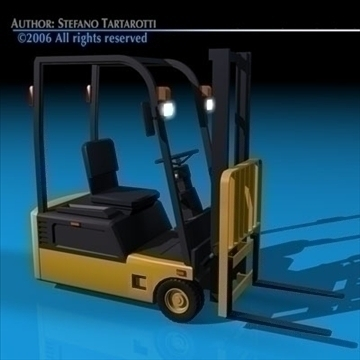 forklift 3d model 3ds dxf c4d obj 84534