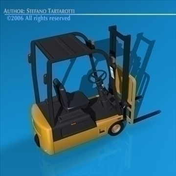 forklift 3d model 3ds dxf c4d obj 84535