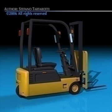 forklift 3d model 3ds dxf c4d obj 84536