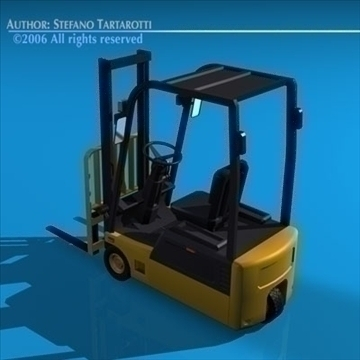 forklift 3d model 3ds dxf c4d obj 84537