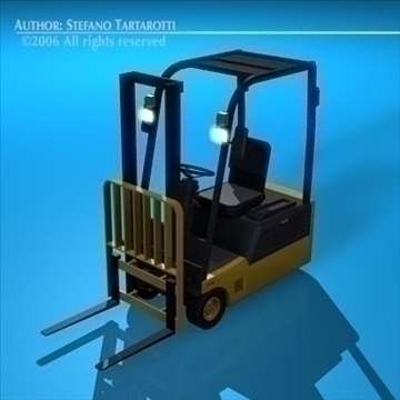 forklift 3d model 3ds dxf c4d obj 84538
