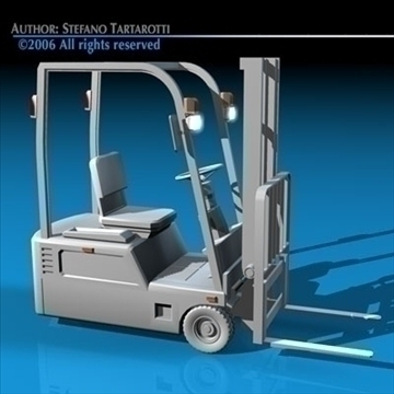 forklift 3d model 3ds dxf c4d obj 84539