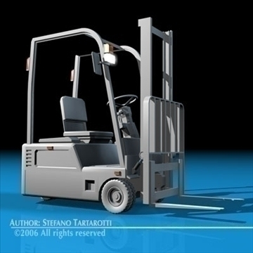 forklift 3d model 3ds dxf c4d obj 84540