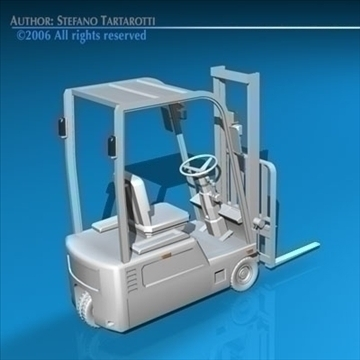 forklift 3d model 3ds dxf c4d obj 84541