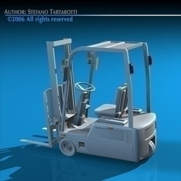 forklift 3d model 3ds dxf c4d obj 84542