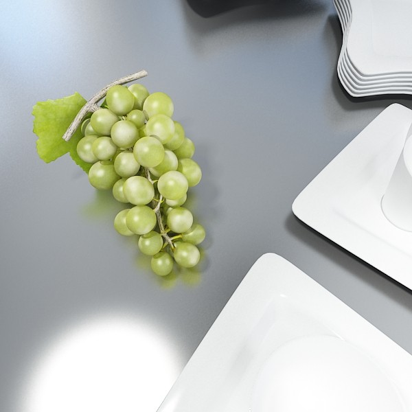 green grapes high detail 3d model 3ds max fbx obj 133014