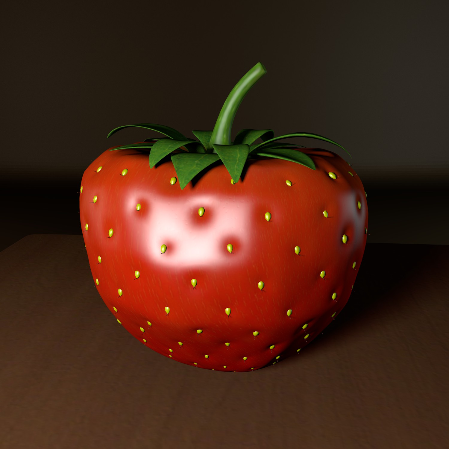 strawberry 3d model blend obj 139427