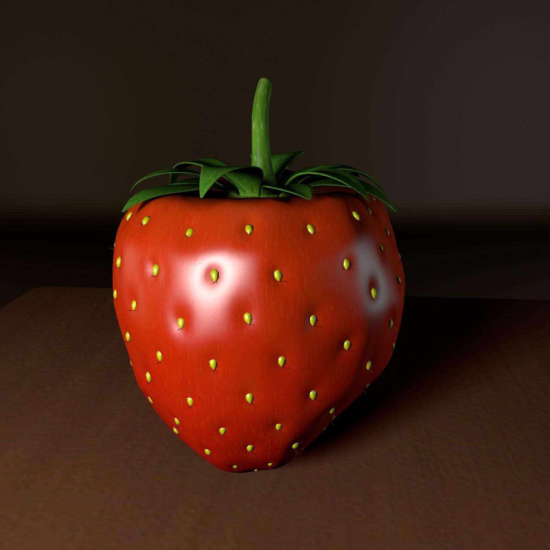 strawberry 3d model blend obj 139428